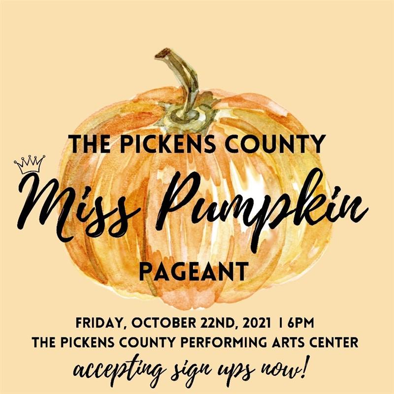 Miss Pumpkin Pageant Oct. 22nd!