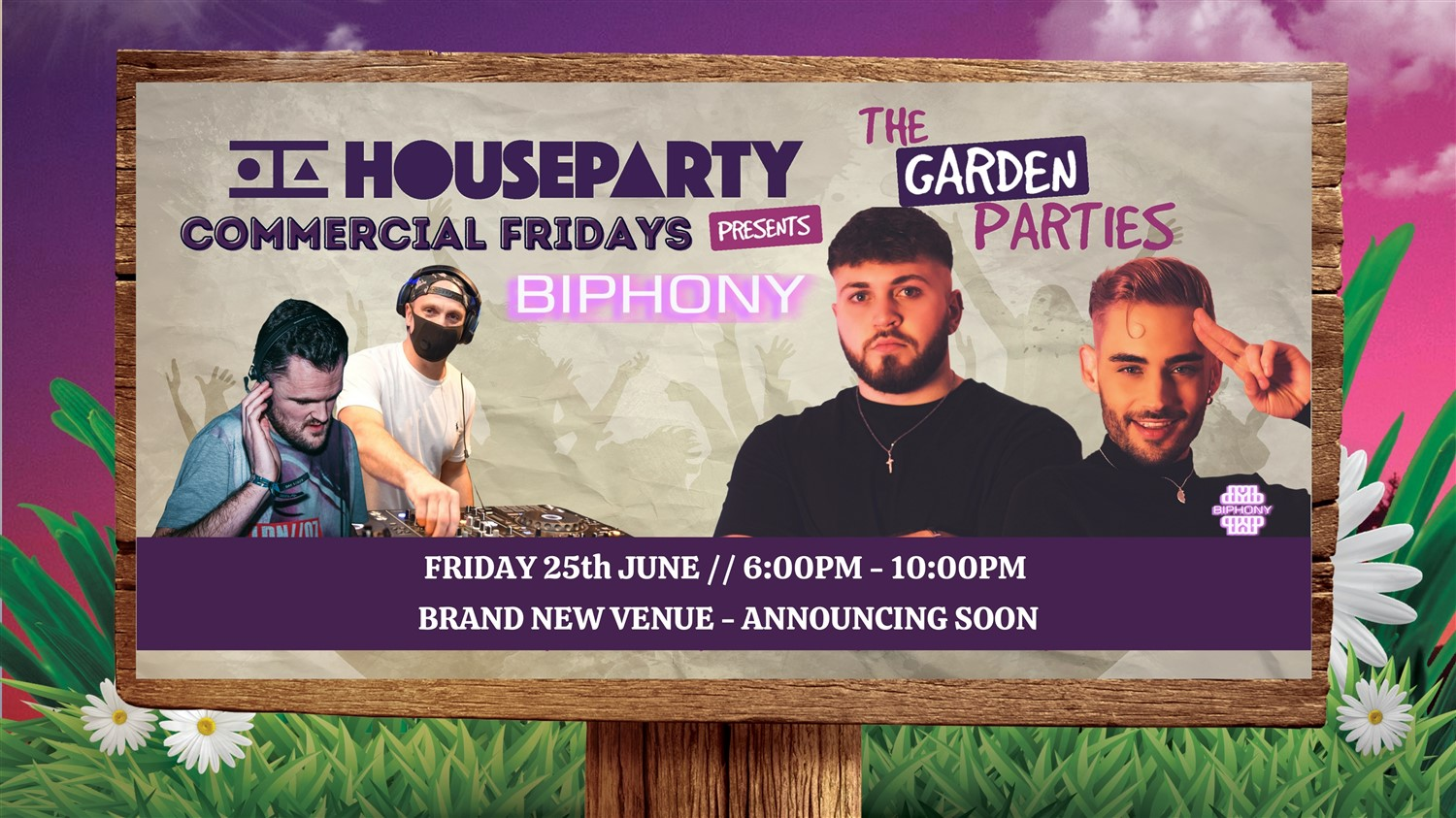 House Party Presents: Biphony  on jun. 25, 18:00@Secret New Venue - Buy tickets and Get information on House Party Europe Ltd