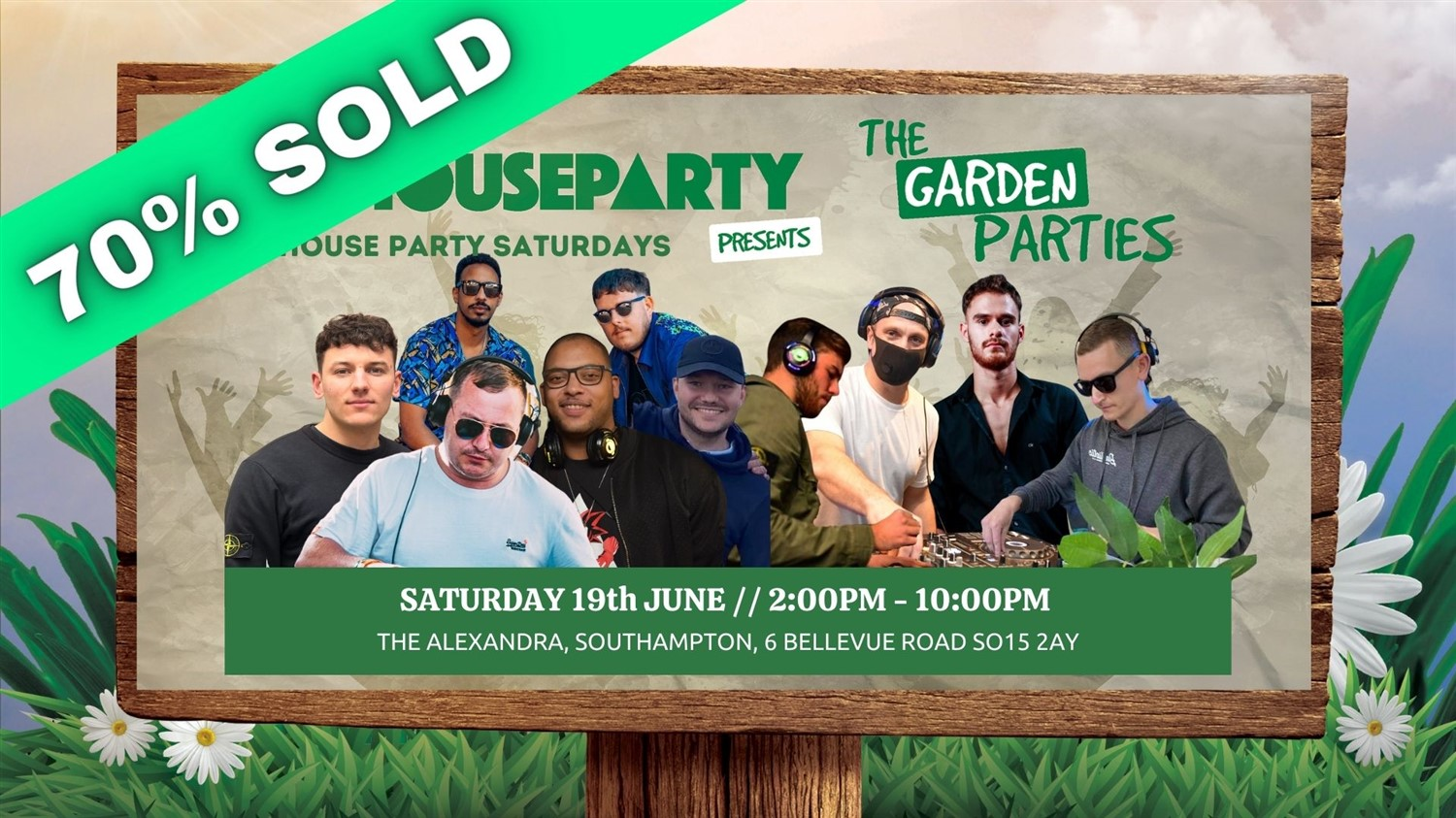 House Party The Southampton Garden Party  on Jun 19, 14:00@The Alex - Buy tickets and Get information on House Party Europe Ltd