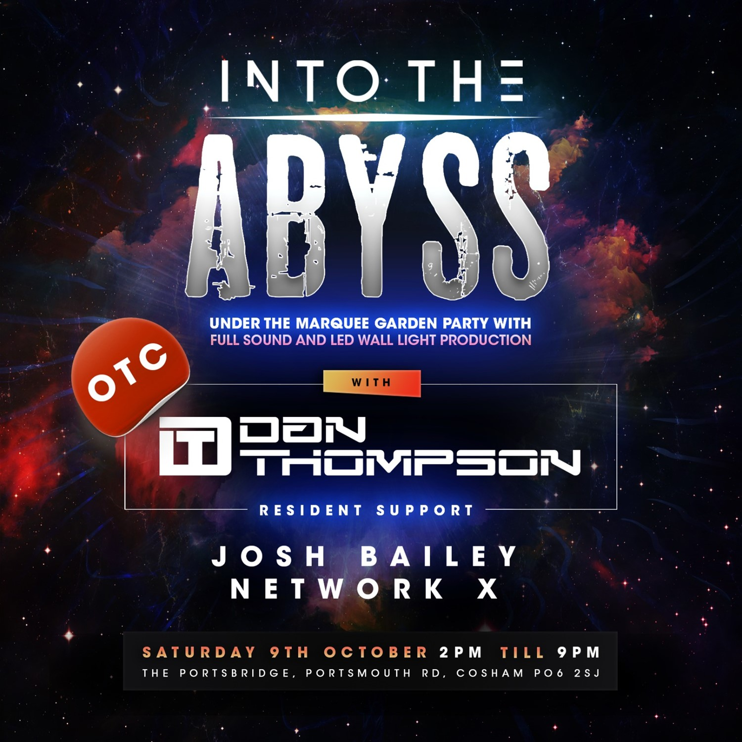 INTO THE ABYSS  on Oct 09, 14:00@The Portsbridge Pub - Buy tickets and Get information on House Party Europe Ltd