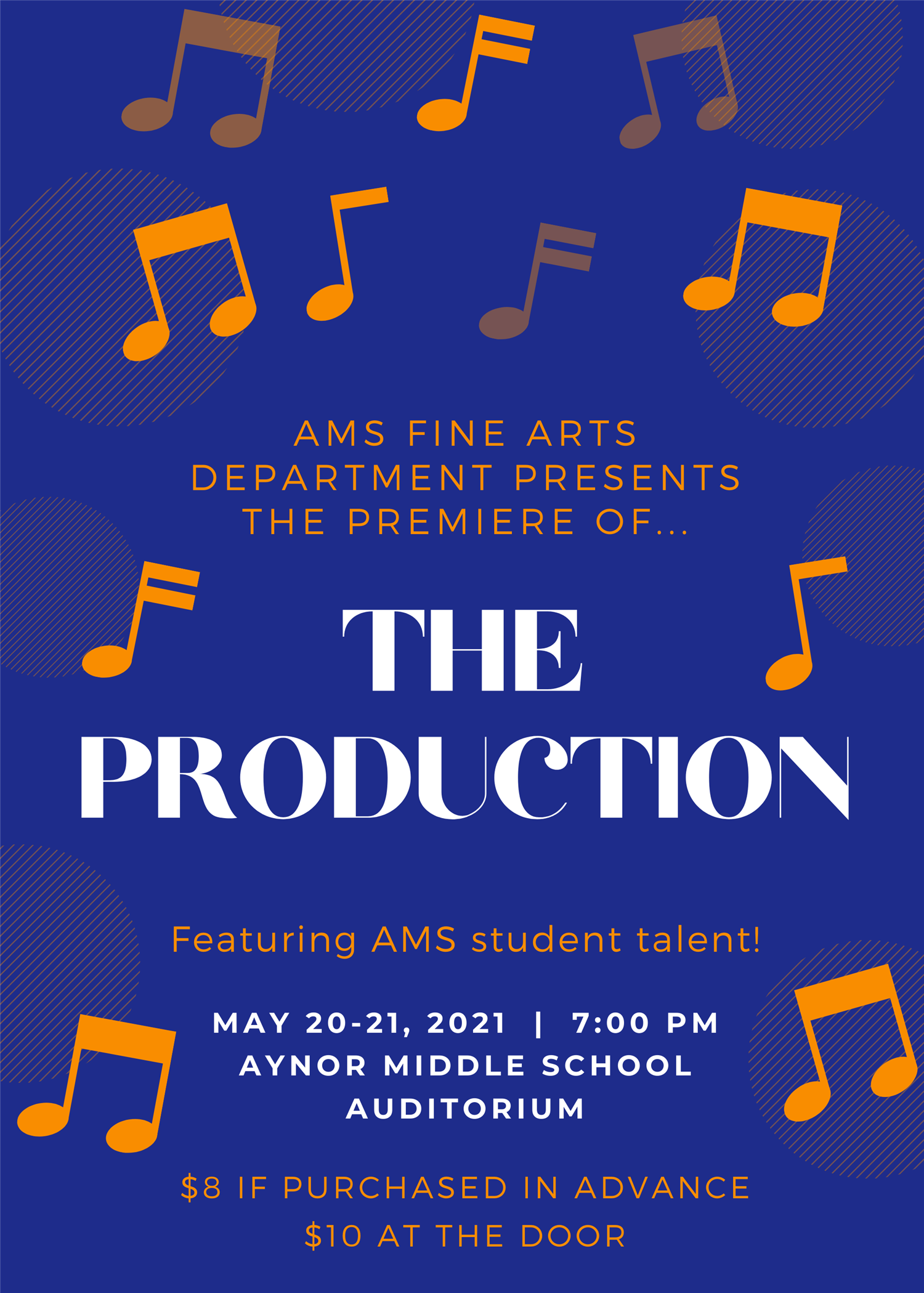 The Production!  on may. 20, 19:00@Aynor Middle School Auditorium - Buy tickets and Get information on Aynor Middle School Fine Arts
