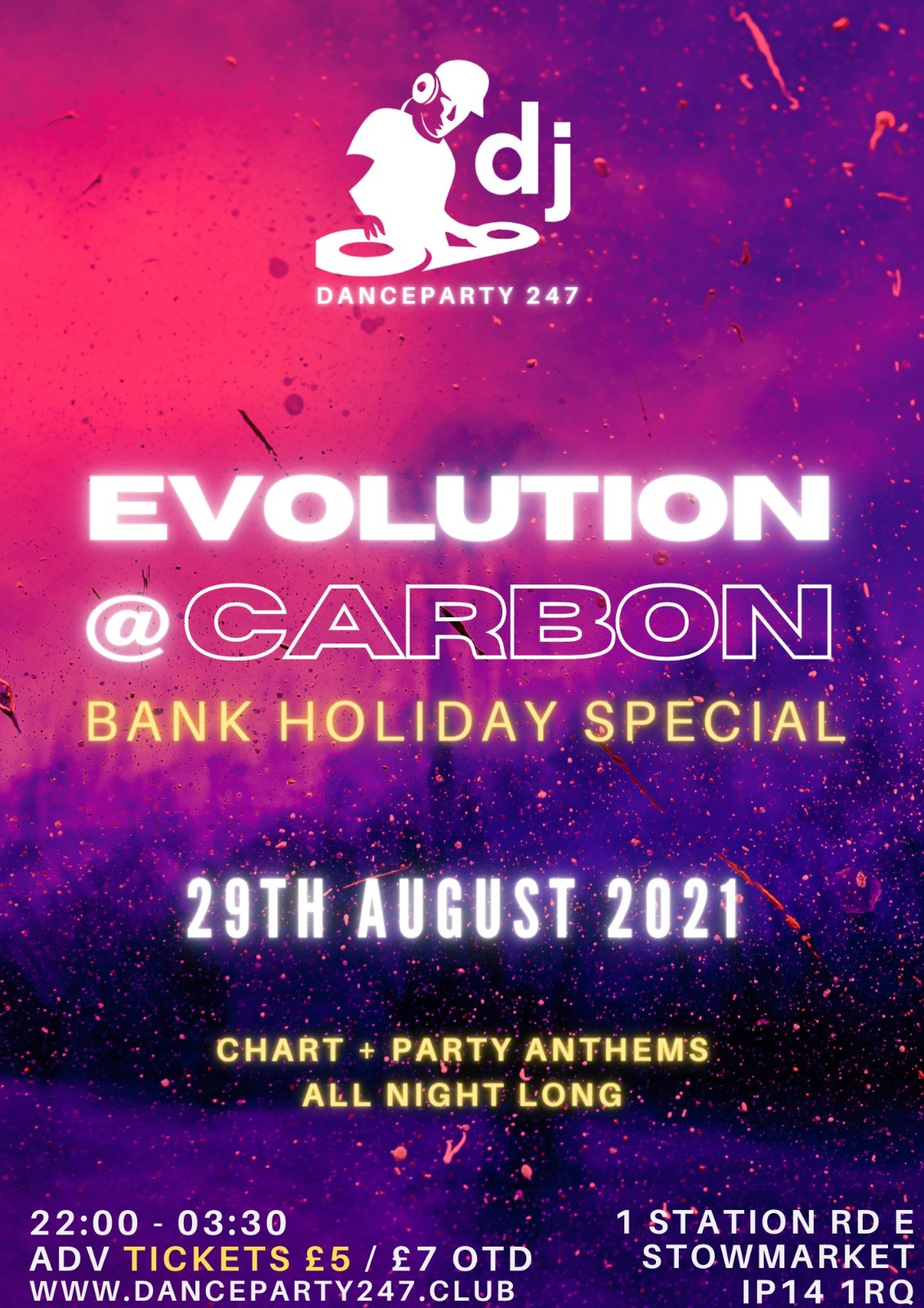 Evolution  on Jul 30, 22:30@Carbon - Buy tickets and Get information on www.danceparty247.club