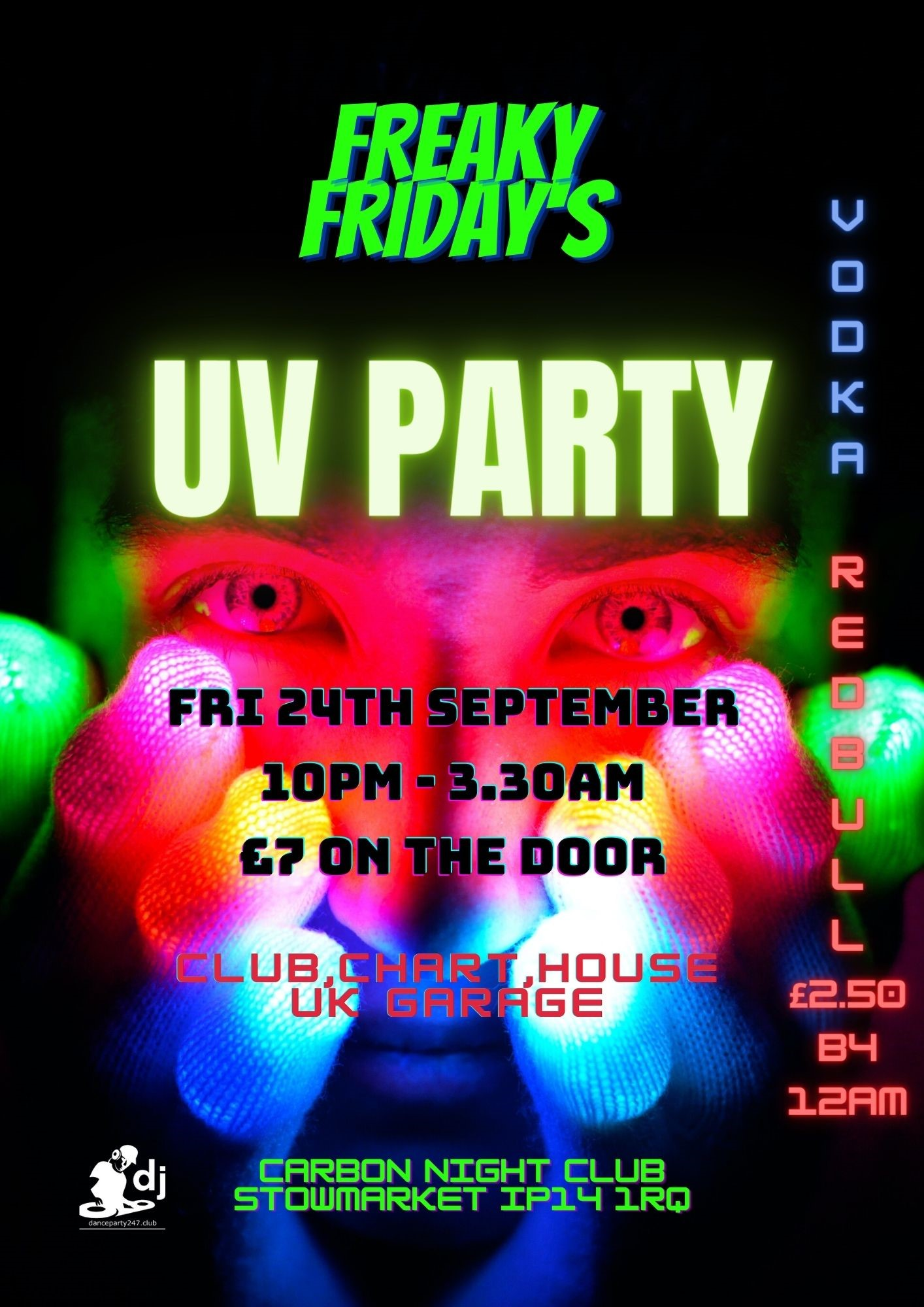 UV Party Freaky Friday's on Sep 24, 22:00@Carbon - Buy tickets and Get information on www.danceparty247.club