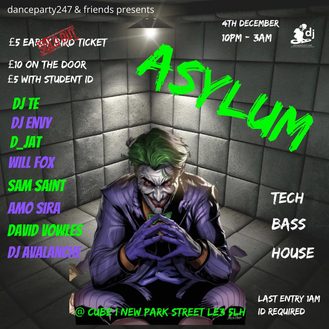 Asylum  on Dec 04, 22:00@Cube - Buy tickets and Get information on www.danceparty247.club