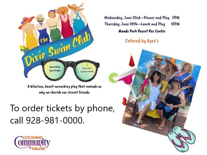 Get Information and buy tickets to DIXIE SWIM CLUB (Dinner and Play) 5:00 PM  on cctfriends.org