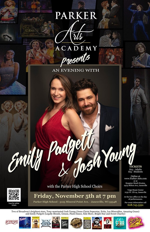 Get Information and buy tickets to An Evening With Emily Padgett & Josh Young  on Parker Arts Academy