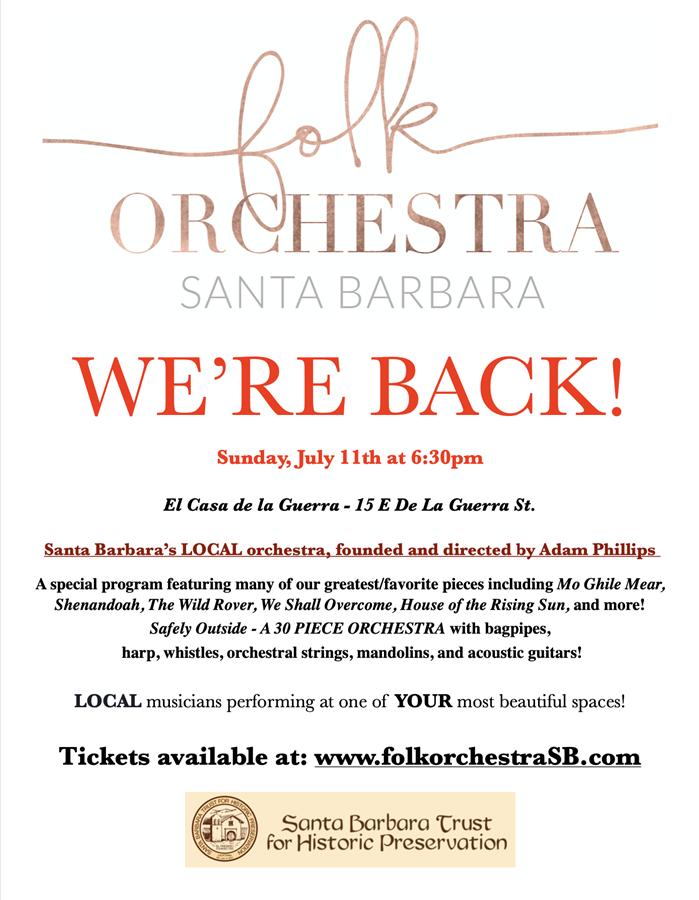 Folk Orchestra Santa Barbara - We're Back!