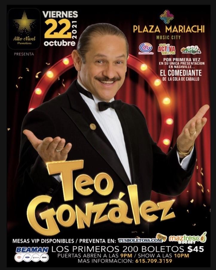 Obtener información y comprar entradas para Teo Gonzalez ALTO NIVEL PROMOTIONS PRESENTA en TUSBOLETOSS.COM.