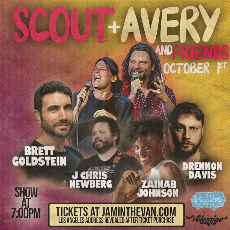 Get Information and buy tickets to Scout & Avery & Friends An Outdoor Comedy Show on Jam in the Van