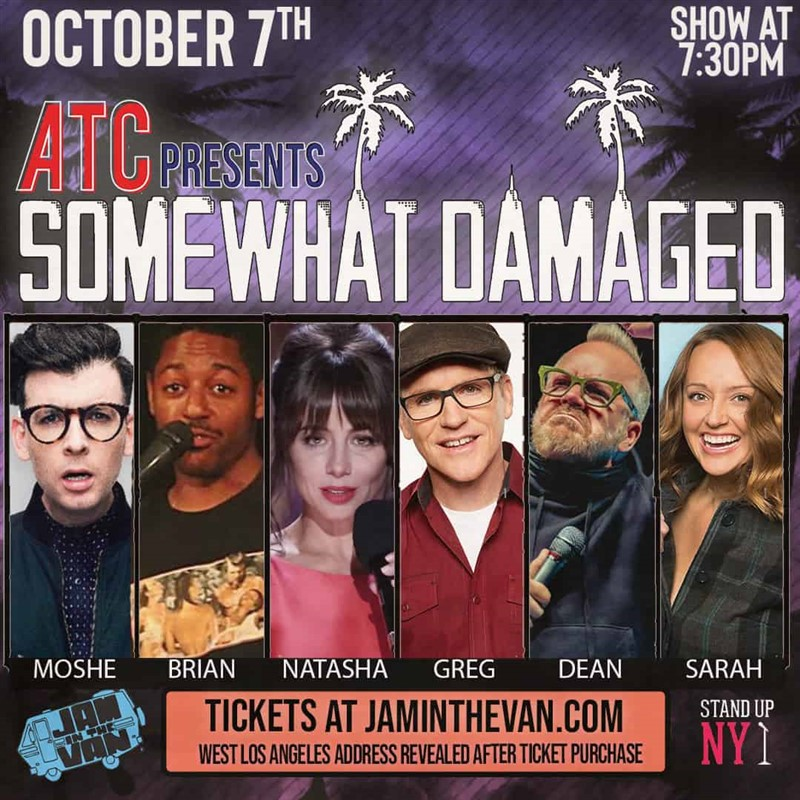 Get Information and buy tickets to ATC Presents: Somewhat Damaged  on Jam in the Van