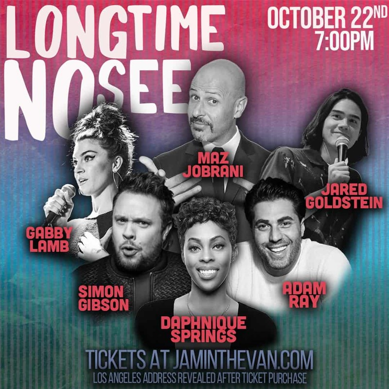 Get Information and buy tickets to Long Time No See  on Jam in the Van