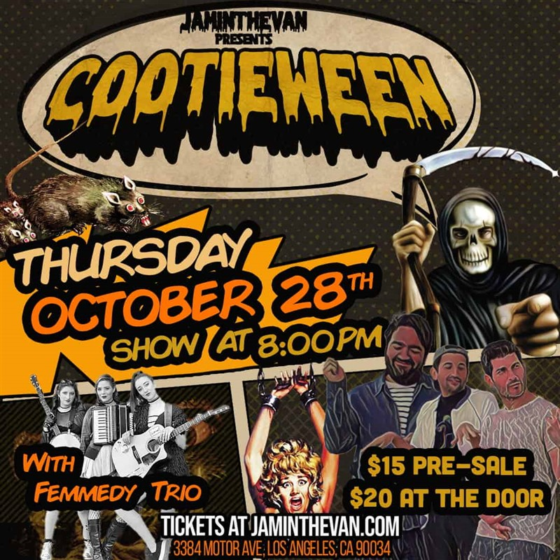 Get Information and buy tickets to The Cooties COOTIEWEEN on Jam in the Van