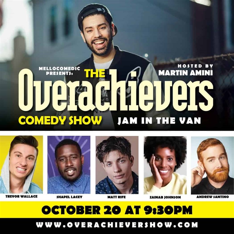 Get Information and buy tickets to Mellocomedic Presents The Overachievers Comedy Show  on Jam in the Van