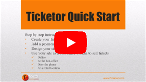 Obtener información y comprar entradas para Ticketor Quick Start Online Streaming This is an on-demand video en Ticketor Demo.