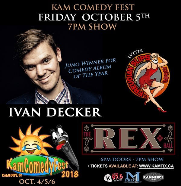 Get Information and buy tickets to KamComedyFest FRIDAY EVENING Pass (2 shows) on www.KamTix.ca