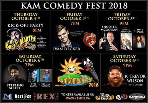 Get Information and buy tickets to KamComedyFest Festival Pass Balcony Seating at The Rex on www.KamTix.ca