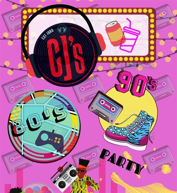 Get Information and buy tickets to 80s 90s Party at CJ