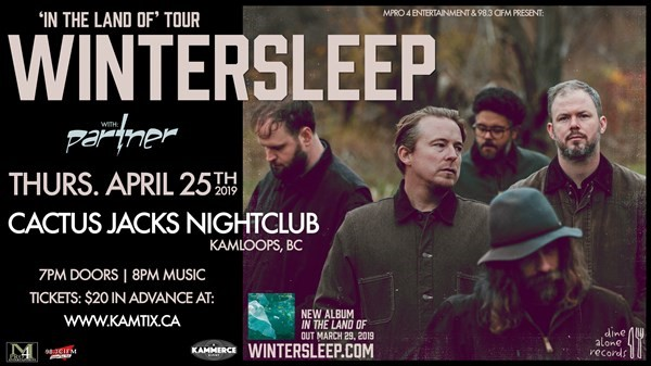 Get Information and buy tickets to wintersleep w/ guests on www.KamTix.ca