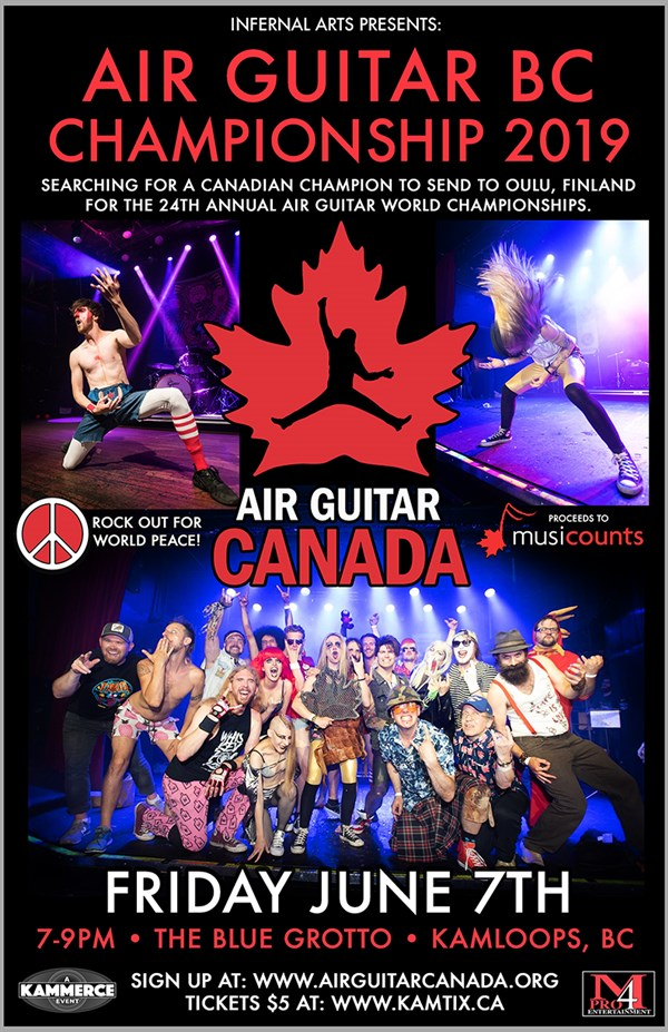 Get Information and buy tickets to Air Guitar BC Championships  on www.KamTix.ca