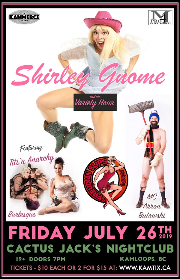 Get Information and buy tickets to Shirley Gnome & The Variety Hour w/ Tits