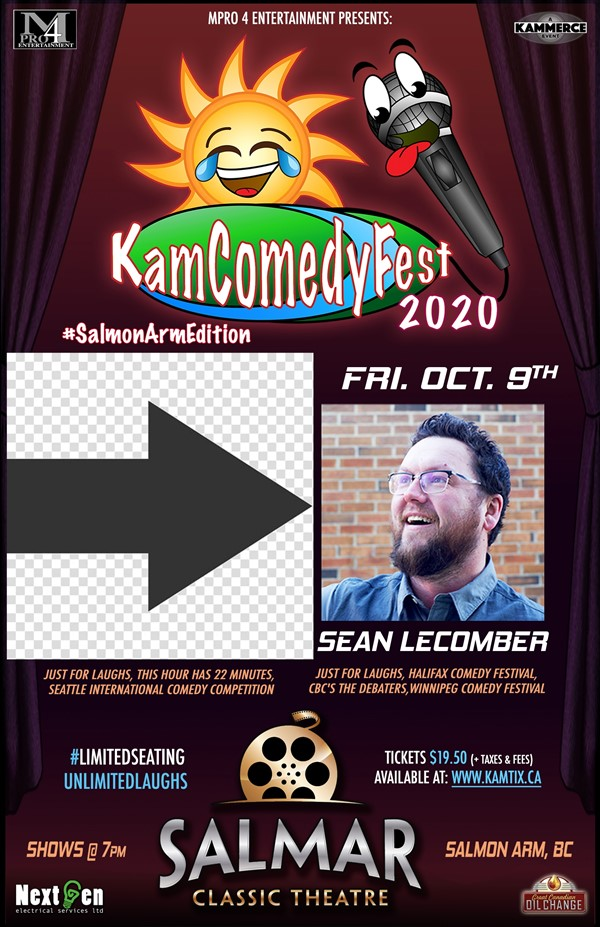 Get Information and buy tickets to KamComedyFest #SalmonArmEdition w/ Sean Lecomber on www.KamTix.ca