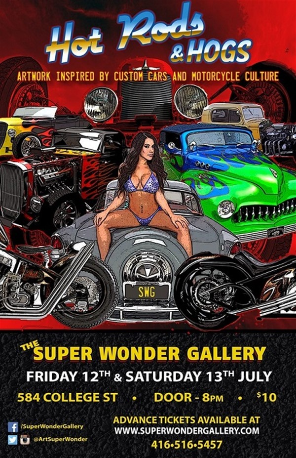 Get Information and buy tickets to HOT RODS & HOGS Car & Motorcycle Culture on Super Wonder Gallery