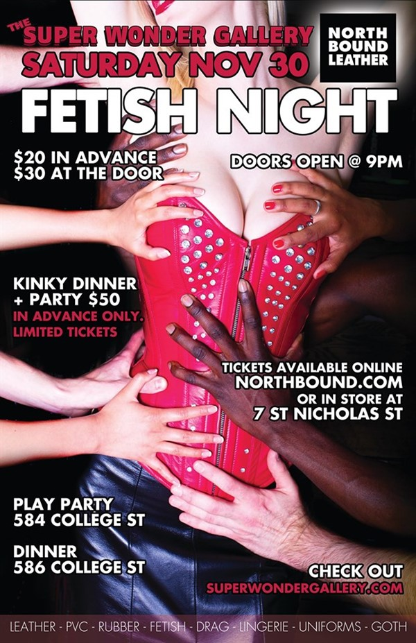 Get Information and buy tickets to Fetish Night Northbound Leather on Super Wonder Gallery