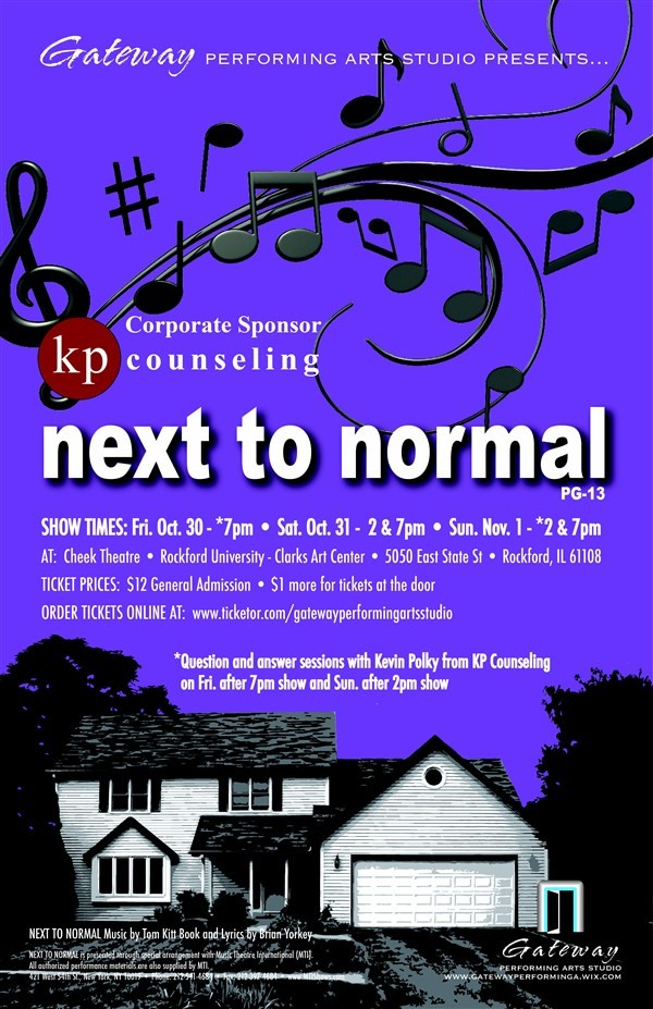 Get Information and buy tickets to Next to Normal  on Gateway Performing Arts Studio