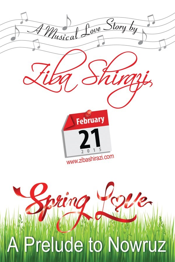 "Get Information and buy tickets to ""Spring Love"" A Musical Love Story by ZIBA SHIRAZI (IN ENGLISH) on www.zibashirazi.com"