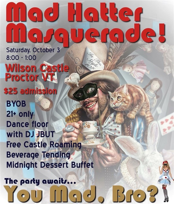 Get Information and buy tickets to Mad Hatter Masquerade  on Wilson Castle
