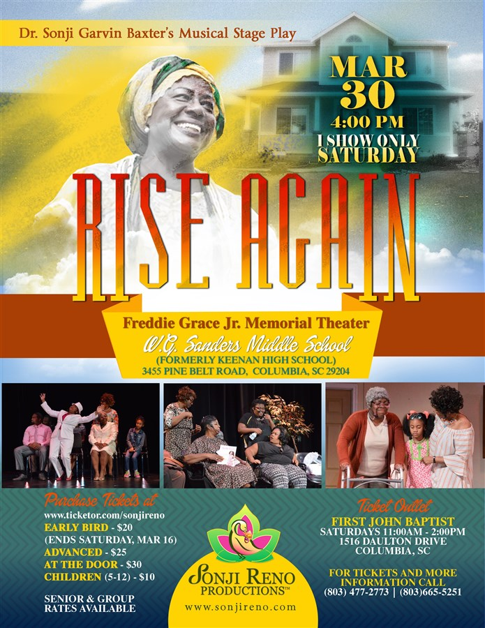 Get Information and buy tickets to RISE AGAIN  on sonji reno production