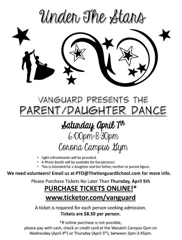 Get Information and buy tickets to K-6 Vanguard Parent/Daughter Dance  on www.TheVanguardSchool.com