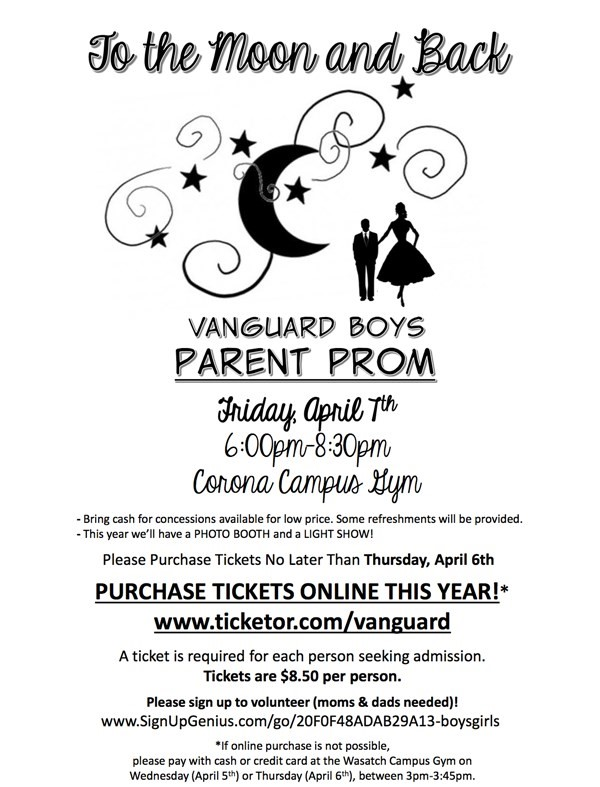 Get Information and buy tickets to K-6 Vanguard Boys