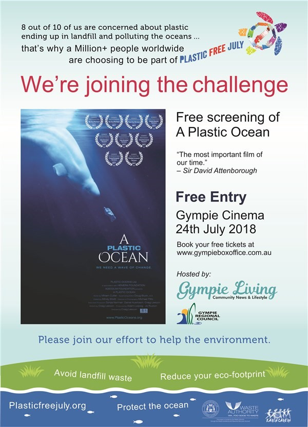 Get Information and buy tickets to 'A Plastic Ocean' For one night only, the life changing award winning film on Gympie Box Office