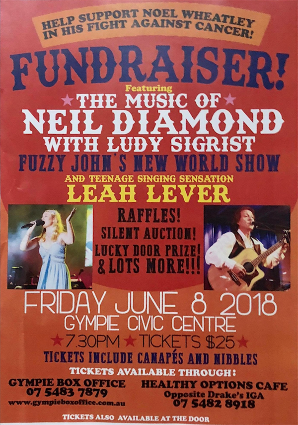 Get Information and buy tickets to FUNDRAISER, SONGS OF NEIL DIMOND WITH JUDY SIGRIST Fuzzy John