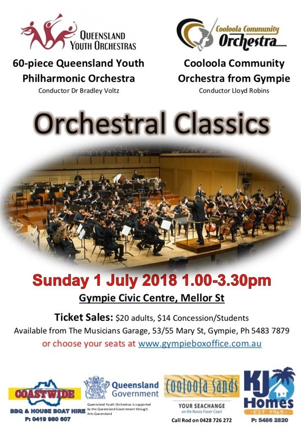 Get Information and buy tickets to Orchestral Classics  on Gympie Box Office