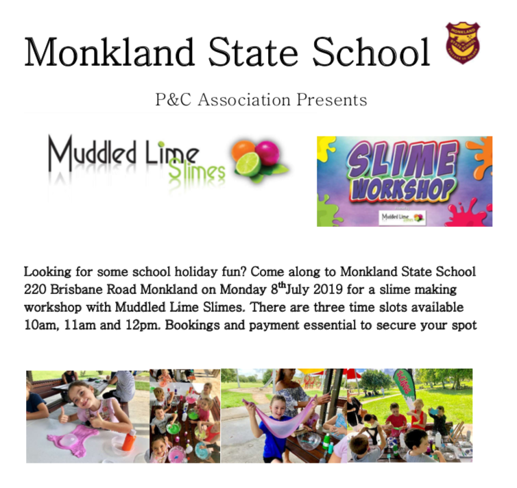 Get Information and buy tickets to Slime Workshop Monkland State School Slime Workshop on Gympie Box Office