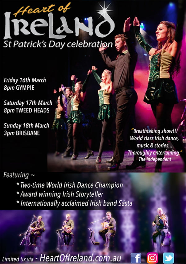Get Information and buy tickets to Heart of Ireland St. Patrick