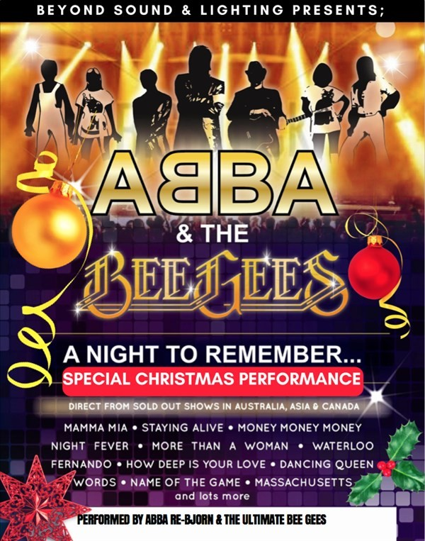 Get Information and buy tickets to CHRISTMAS WITH ABBA & THE BEE GEES Beyond Sound Presents a 2 hour Extravaganza on Gympie Box Office