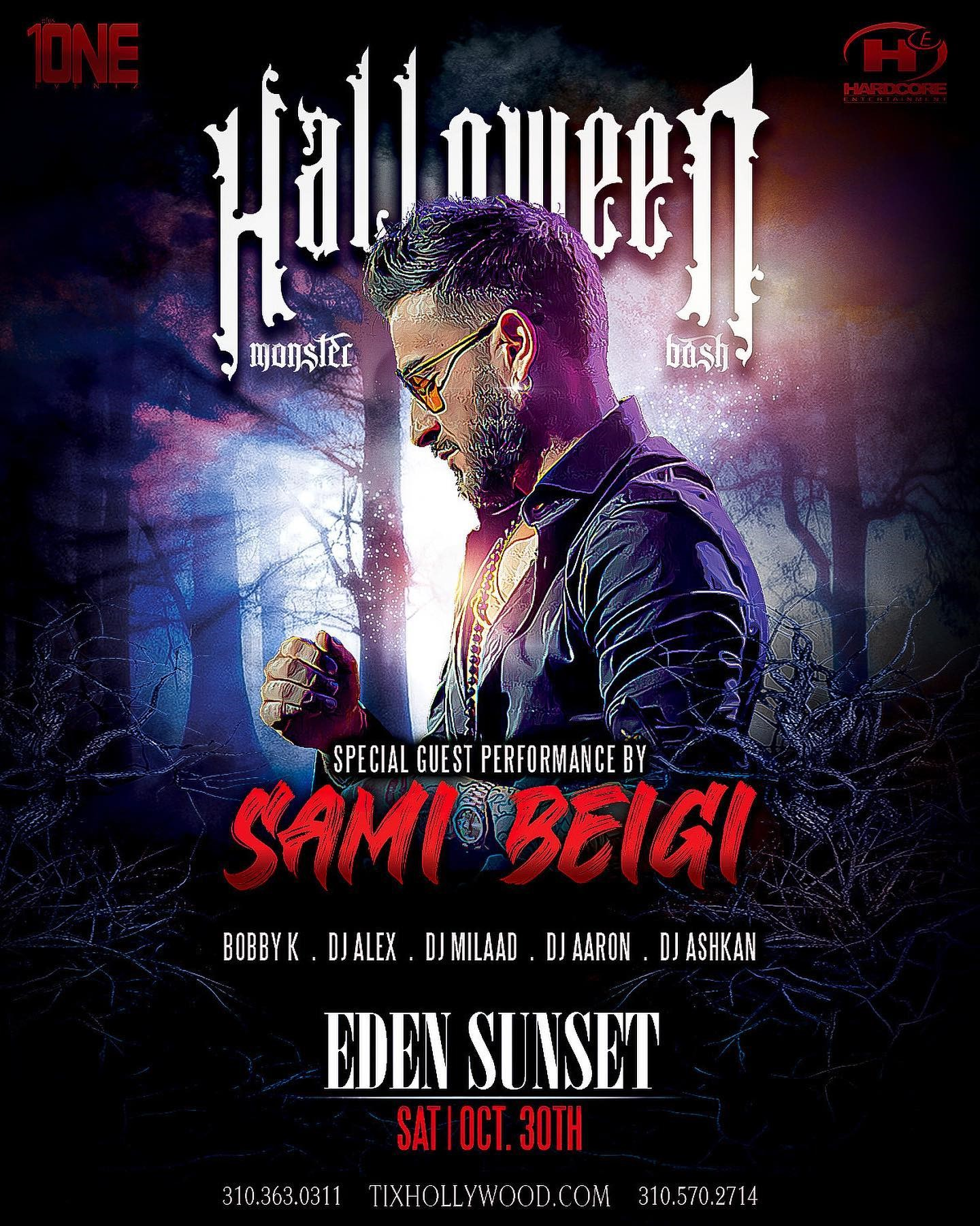 Halloween Party @ EDEN SUNSET (Saturday, Oct. 30) Special Guest Performance By: SAMI BEIGI on Oct 30, 22:00@EDEN SUNSET - Buy tickets and Get information on HARDCORE & PLUS ONE