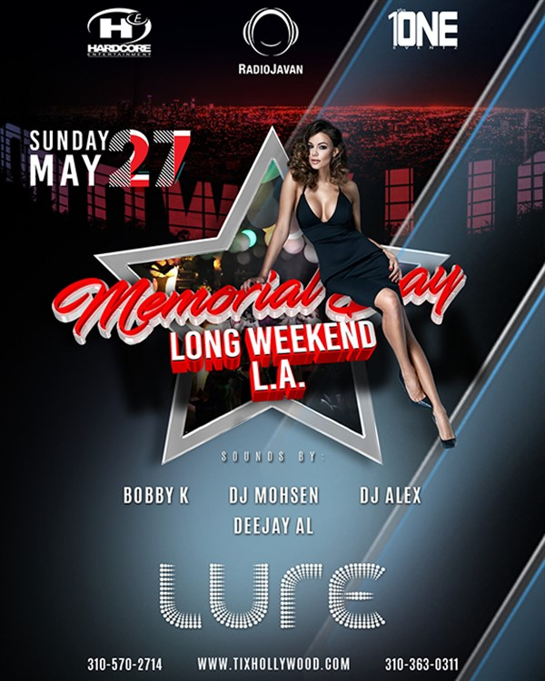 Get Information and buy tickets to TONIGHT @ LURE Hollywood (MORE TICKETS AVAILABLE AT THE DOOR) on HARDCORE & PLUS ONE