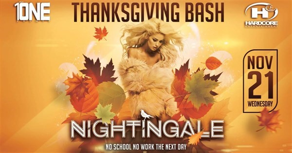 Get Information and buy tickets to TONIGHT 11/21 @ NIGHTINGALE Nightclub (MORE TICKETS AVAILABLE AT THE DOOR) on HARDCORE & PLUS ONE