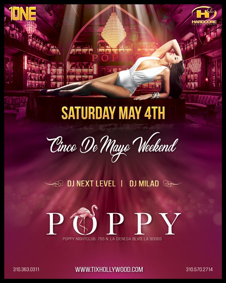 Get Information and buy tickets to Sensual Saturday Party @ POPPY Nightclub Saturday, May 4th, 2019 on HARDCORE & PLUS ONE