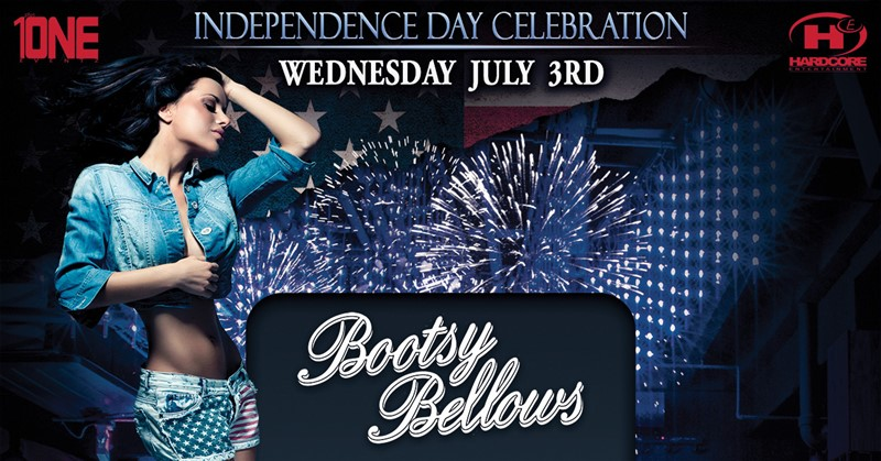 Get Information and buy tickets to Independence Day Celebration @ BOOTSY BELLOWS (Wednesday, July 3rd, 2019) on HARDCORE & PLUS ONE