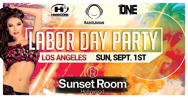 Get Information and buy tickets to Labor Day Weekend Party @ SUNSET ROOM Sunday, September 1st, 2019 on Irani Ticket