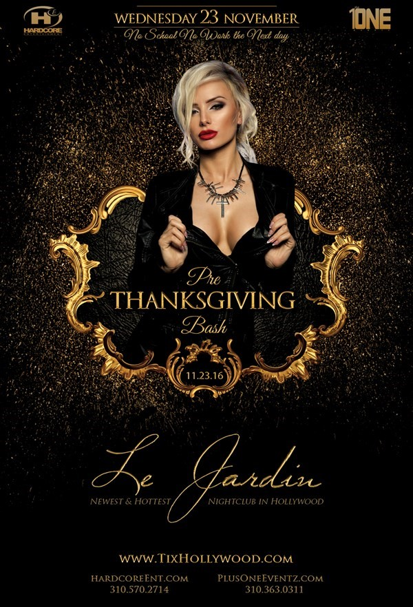 Get Information and buy tickets to TONIGHT @ LE JARDIN NIGHTCLUB MORE TICKETS AVAILABLE AT THE DOOR on HARDCORE & PLUS ONE