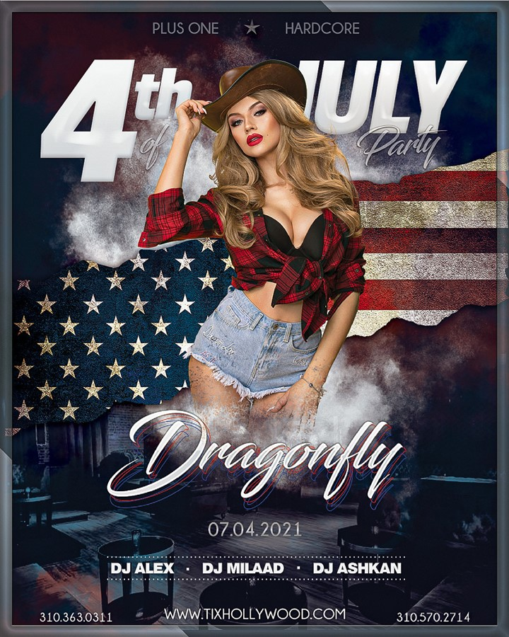 Get Information and buy tickets to 4th Of July Party @ DRAGONFLY Nightclub (Sunday, July 4th, 2021) on HARDCORE & PLUS ONE