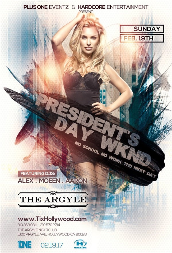 Get Information and buy tickets to TONIGHT @ ARGYLE NIGHTCLUB MORE TICKETS AVAILABLE AT THE DOOR on HARDCORE & PLUS ONE