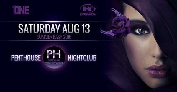 Get Information and buy tickets to TONIGHT 8/13 @ PENTHOUSE NIGHTCLUB MORE TICKETS AVAIALBLE AT THE DOOR on HARDCORE & PLUS ONE