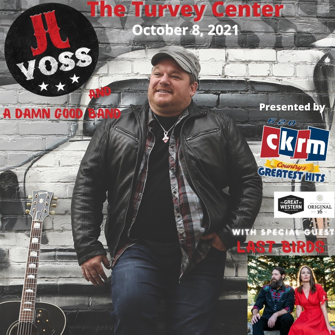 J J VOSS And a DAMN GOOD BAND With Special Guest LAST BIRDS on Oct 08, 19:00@Turvey Center - Pick a seat, Buy tickets and Get information on Turvey Convention Center